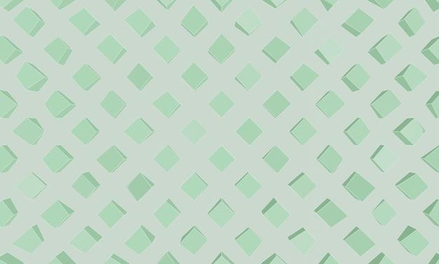 배경에 대한 3d 녹색 비대칭 상자