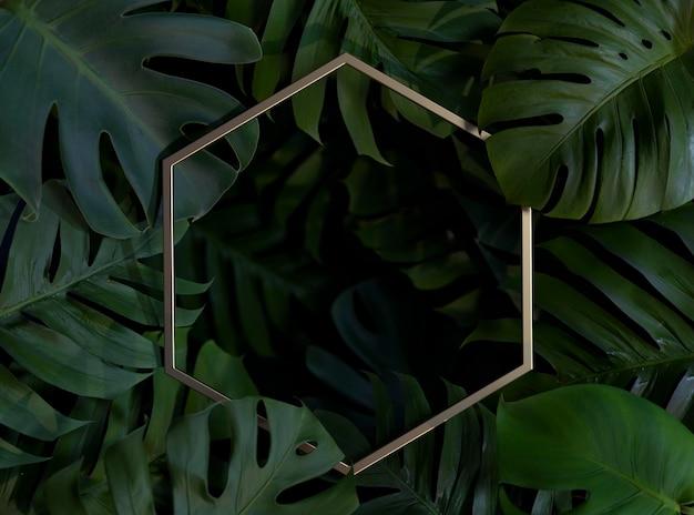 3d 녹색 종려 잎 배열