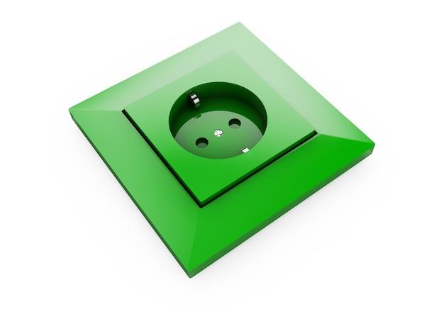 3d зеленый штекер, изолированные на белом фоне