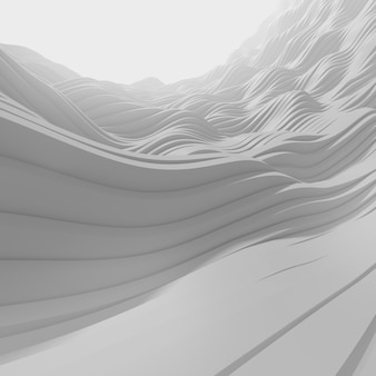 3d grey wave abstract background