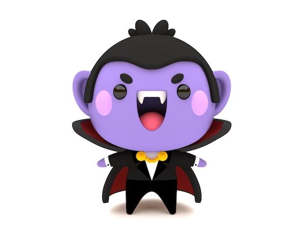 かわいい3d halloween count dracula vampireキャラクター