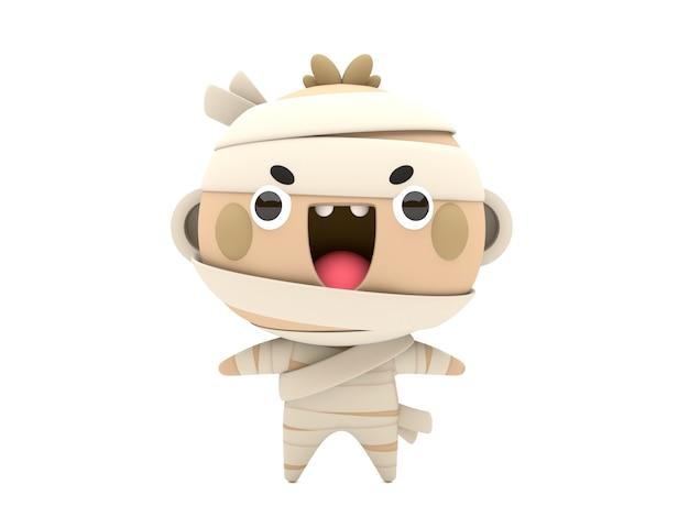 おかしい、かわいい3d halloween mummyキャラクター