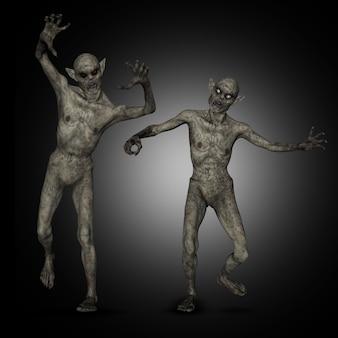 3d зомби хэллоуина
