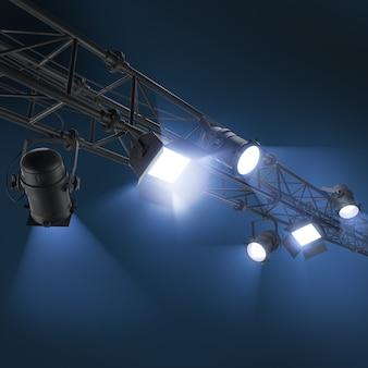 3d подвесной прожектор или софиты