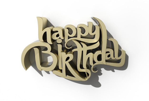 3d happy birthday text - pen tool created clipping path included in jpeg easy to composite.