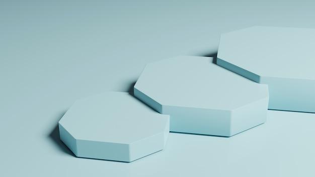 3d六角形製品ディスプレイ表彰台