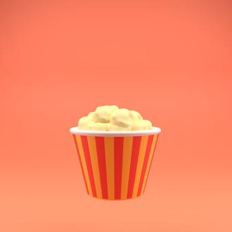 3d иконки попкорн с большой пленкой