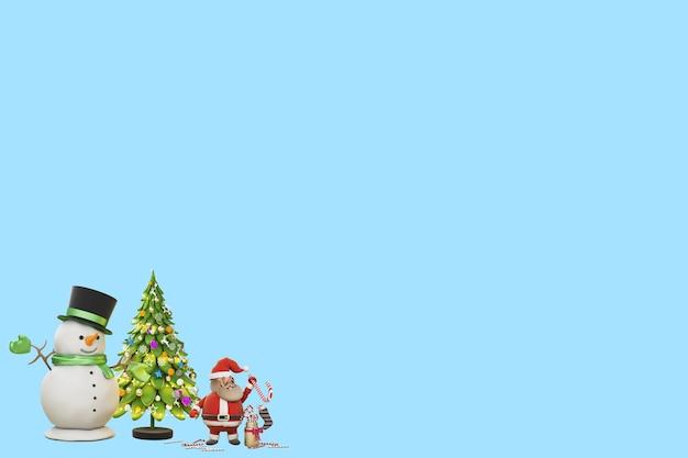 3dイラストクリスマスの日にサンタクロースからの贈り物