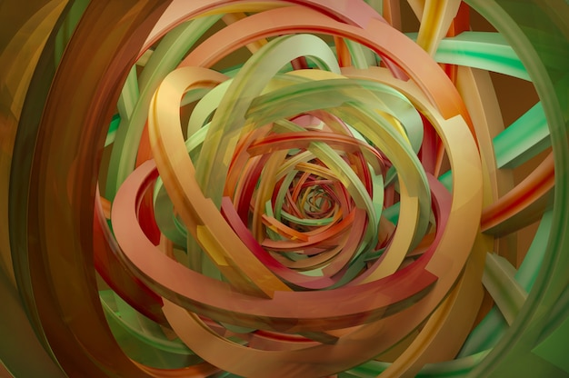 3d illustration. abstract 3d rendering of twisted lines. modern background design