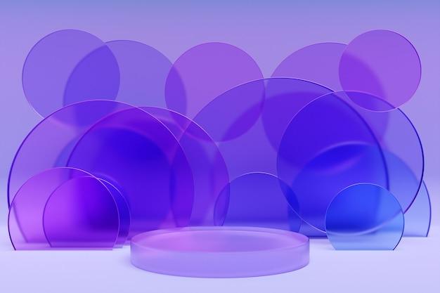 기하학적 형태와 3d 그림 추상 최소한의 장면