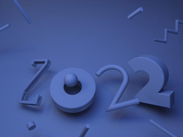 3d иллюстрации. абстрактная форма номер 2022 фон