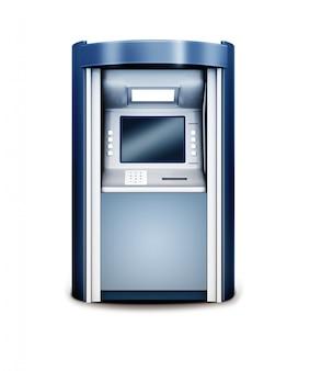 3d illustration of automated teller machine