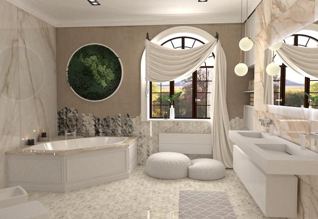 3d illustration of bathroom interior