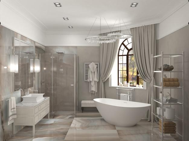 3d illustration of bathroom