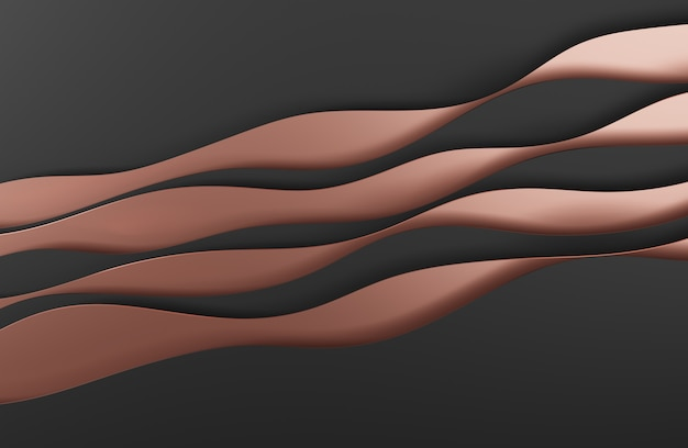 3d illustration black abstract art style design for website backgrounds or advertising