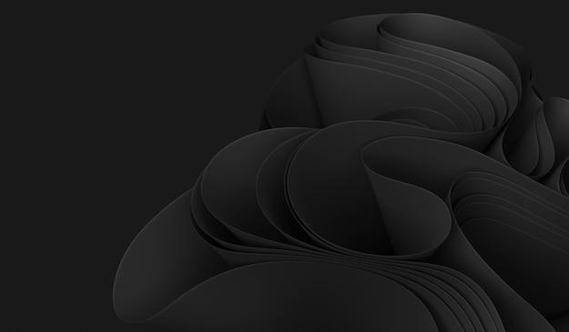 3d иллюстрации черный абстрактный фон обои