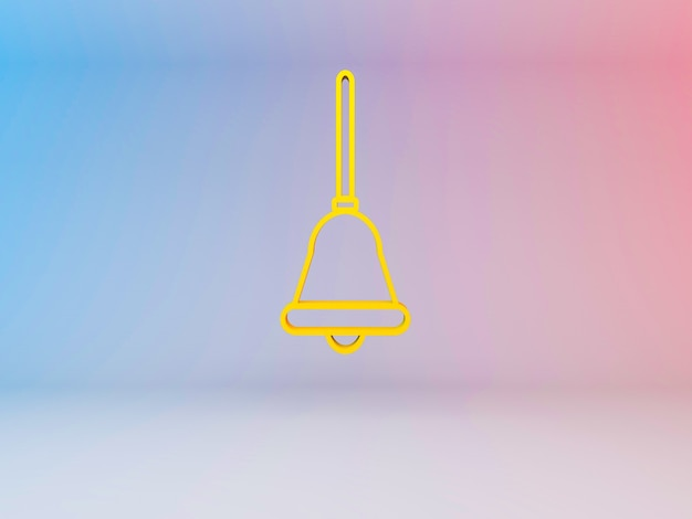 3d illustration of christmas bells on a gradient background