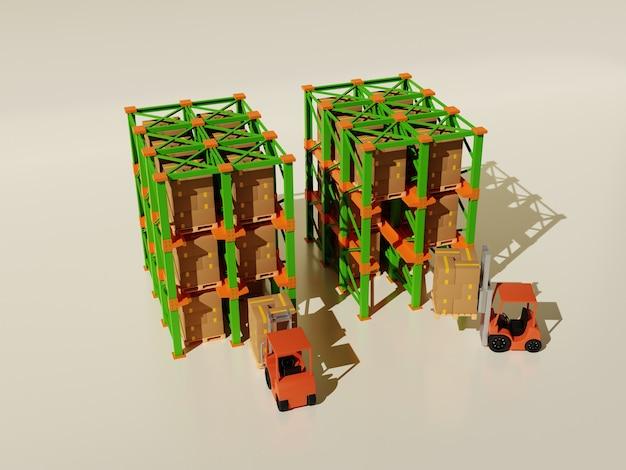 3d иллюстрации концепции складских безопасных товаров