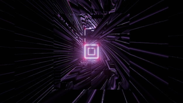 3d illustration of dark swirling tunnel