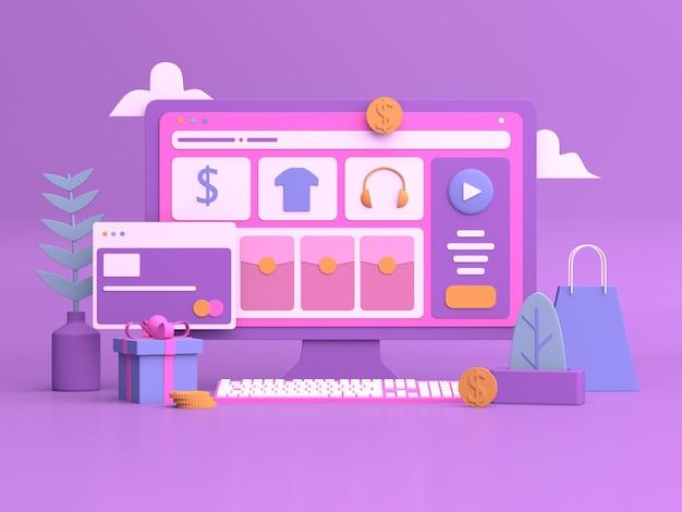3d-дизайн иллюстраций для интернет-маркетинга