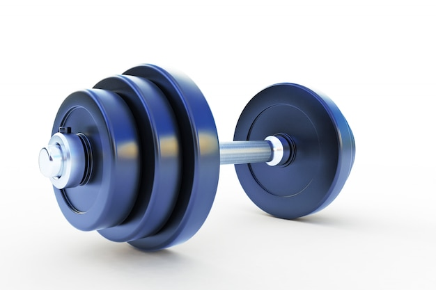 3d illustration of dumbell isolated on white