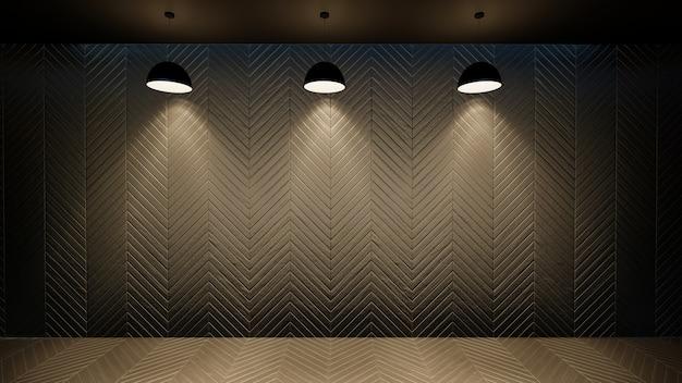 3d illustration of empty wall interior