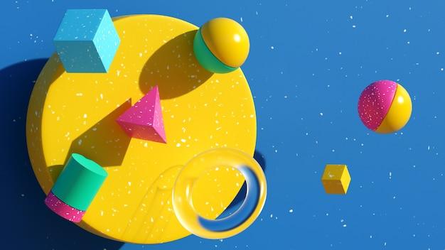 3d иллюстрации геометрия фигуры абстрактное искусство изображение 3d визуализации