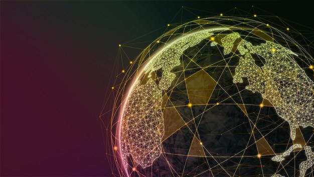3dイラストレーショングローバルモダンクリエイティブコミュニケーションとインターネットネットワークマップ