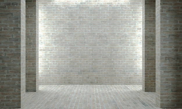 3d illustration. gray concrete or brick wall. industrial construction