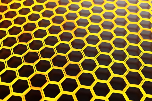 3d illustration of a honeycomb monochrome honeycomb for honey