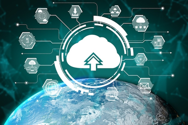 3d иллюстрации международное общение и развитая сеть интернет.