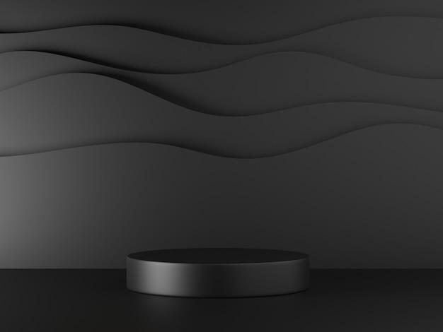 3d иллюстрации минимальный подиум дисплей продукта с абстрактным фоном
