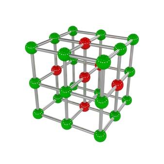 3d illustration of molecular lattice