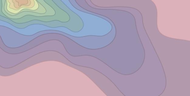 3dイラスト色とりどりの紙カット形状背景抽象的な3dペーパーアートスタイルビジネスプレゼンテーションチラシポスタープリント、装飾、カード、パンフレット。
