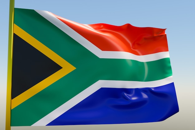 3d illustration of the national flag of south african republic