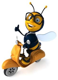 3d иллюстрации деловой пчелы