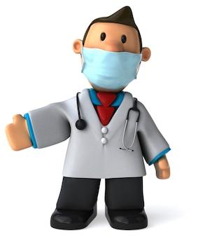 3d иллюстрации мультфильм доктор