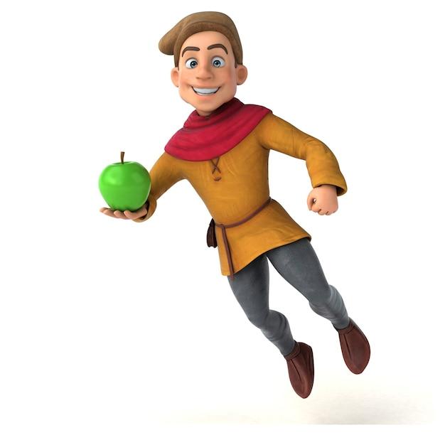 3d иллюстрации средневекового исторического персонажа