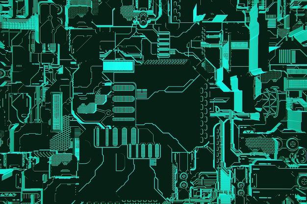 金属の形のパターンの3dイラスト、宇宙船またはロボットの技術的なメッキ。コンピュータゲームのスタイルの抽象的なグラフィック。