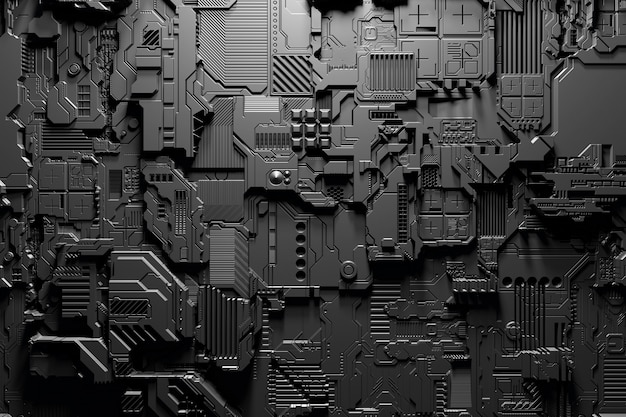 3d иллюстрация реалистичной модели робота или кибер брони