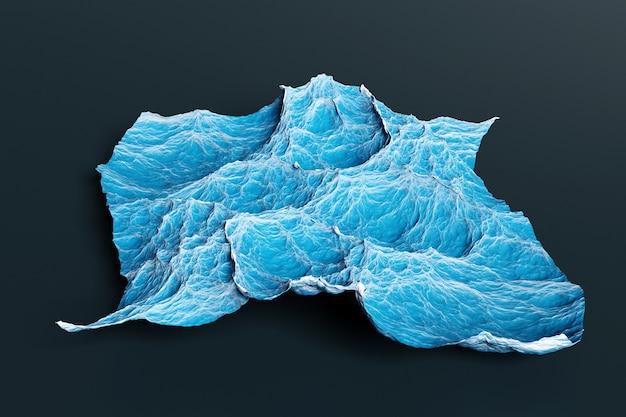 3d иллюстрации участка синего глубокого моря во время шторма, вид сверху. сильный шторм на море