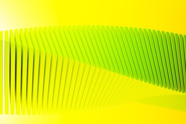 다른 색상의 스테레오 스트립의 3d 일러스트. 파도와 유사한 기하학적 줄무늬.