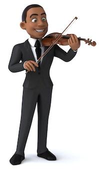 バイオリニストの3dイラスト