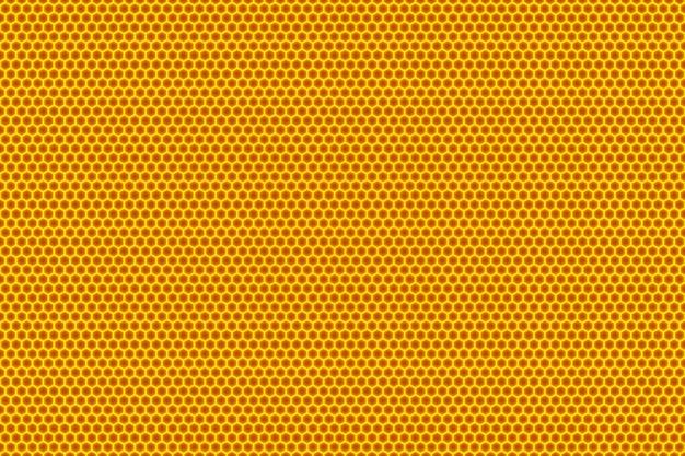 3d иллюстрации желтых сот монохромные соты для меда.