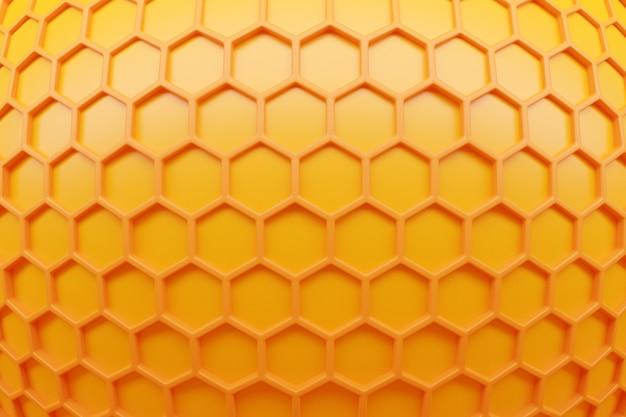 3d иллюстрации желтые соты монохромный