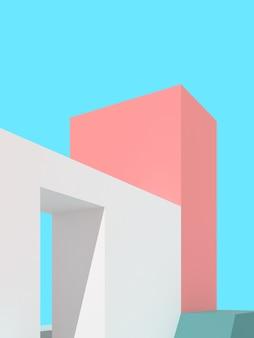 추상적 인 건축 배경의 3d 그림입니다.