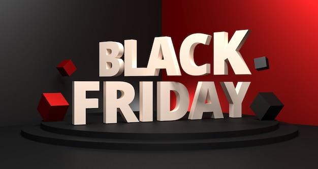 3d иллюстрации фона продажи черная пятница.