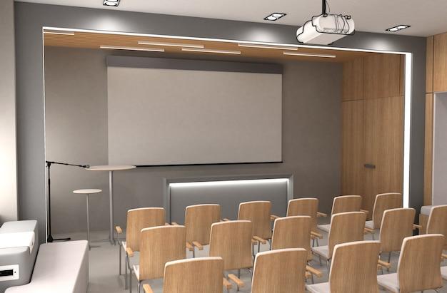 3d иллюстрации конференц-зала