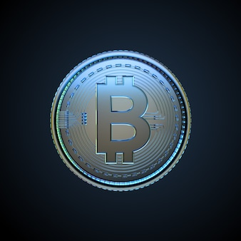 3d иллюстрации цифровой криптовалюты биткойн