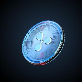 3d иллюстрации пульсации цифровой криптовалюты